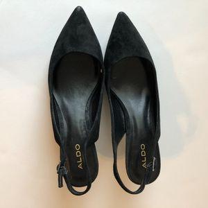5e329f7c4410 Aldo Shoes - Aldo Elawen Pump Black Kitten Heel Strap 7.5